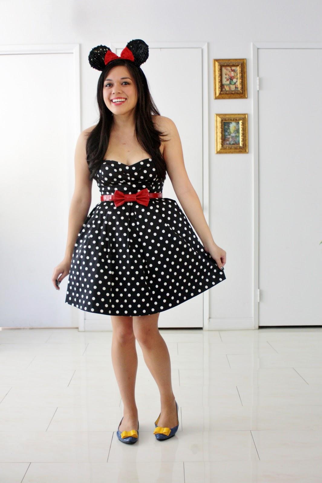 Minnie Mouse Black And White Dress Little Black Dress Black Lace