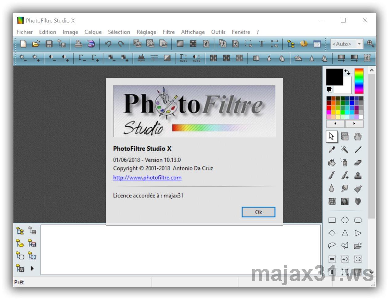 photofiltre studio x avec clé denregistrement