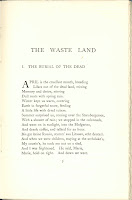 "The first page of ""The Waste Land."""