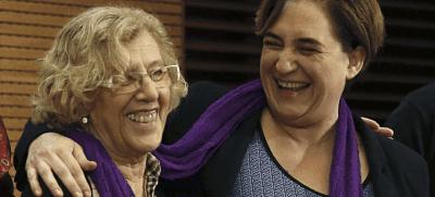 Ahora Madrid, Podemos, Alcaldesas, sueldo, progre
