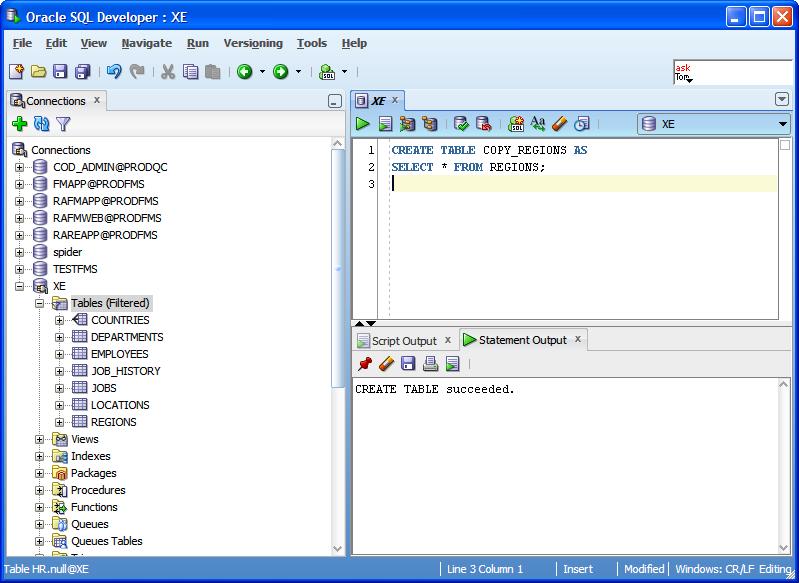 write access sql syntax