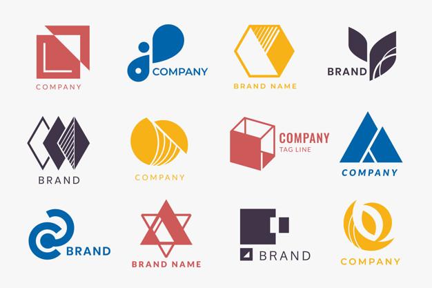 Corporate logo designs Free Vector