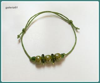 bransoletka sznurkowa_zielona