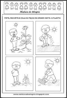Produção de texto sobre plantio