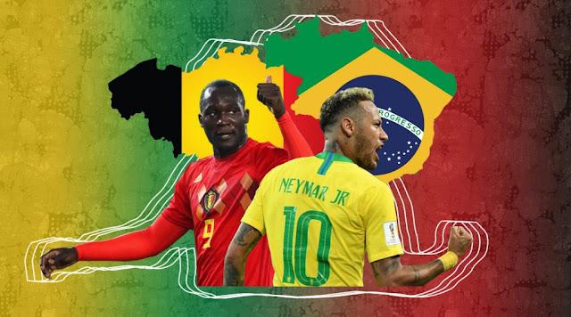 موقع كورة اون لاين | مشاهدة بث مباشر مباراة البرازيل وبلجيكا اليوم في كأس العالم 2018 روابط يوتيوب