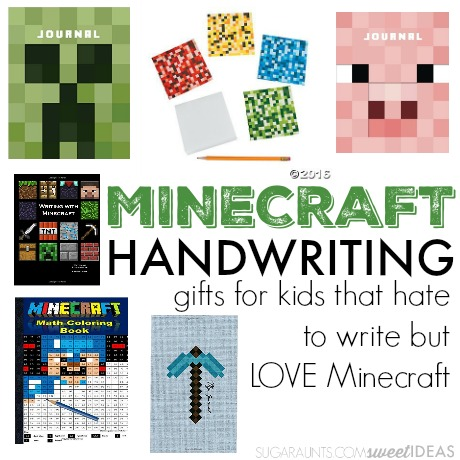 Minecraft handwriting activiites