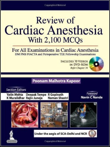 Review of Cardiac Anesthesia with 2,100 MCQs [PDF]