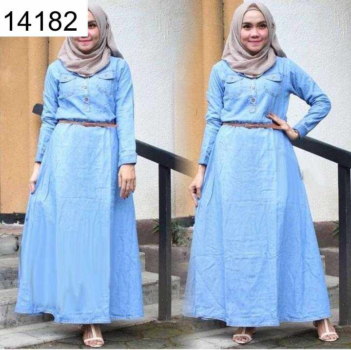 Jual Maxi Dress Maxi Alisha Denim - 14182