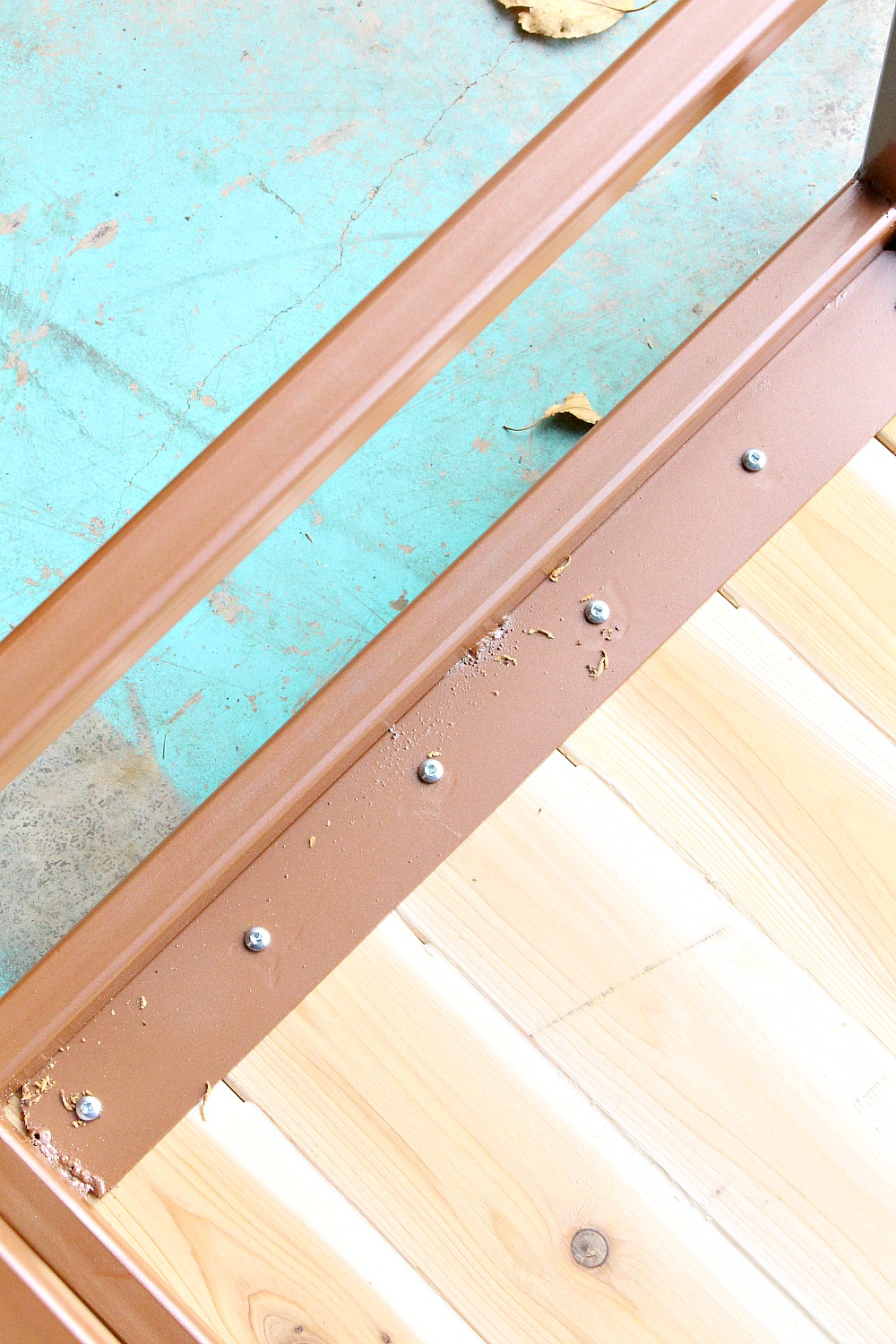 DIY Wood 2x4 Step with Welded Base