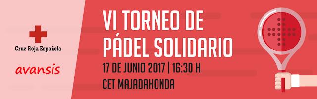 Torneo de Pádel Solidario que organiza Avansis en colaboración con la Cruz Roja de Las Rozas – Majadahonda
