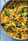 Butternut Squash Roasted Broccoli Alfredo Penne Skillet