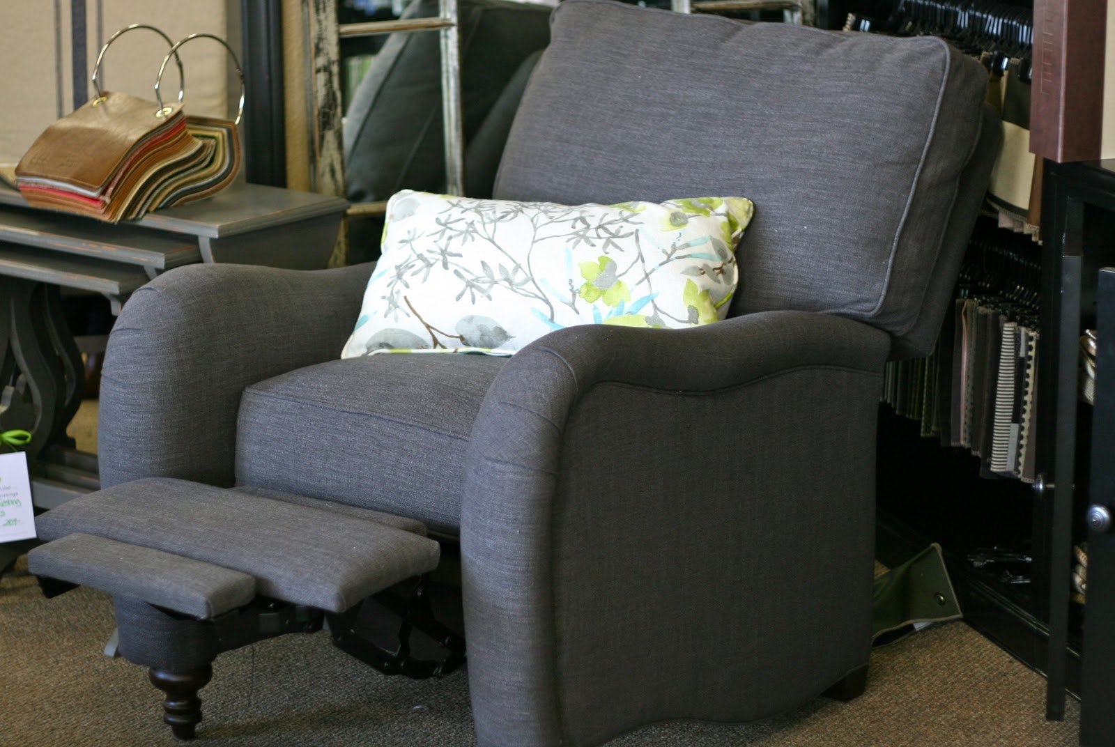Chartreuse home furnishings new seating from lee for Sofa with only one arm
