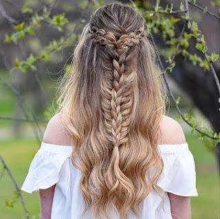 K'Mich Weddings - wedding planning - fishtail hair braiding -