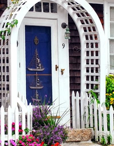 blue nautical door