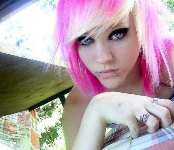 Emo Girl Blonde Hair