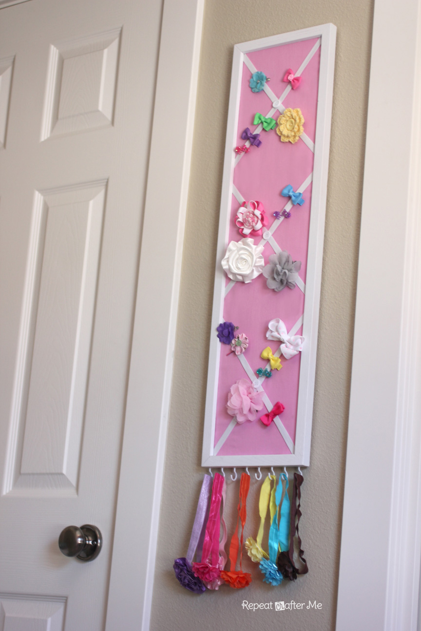 Diy hair bow holder or message board repeat crafter me solutioingenieria Image collections