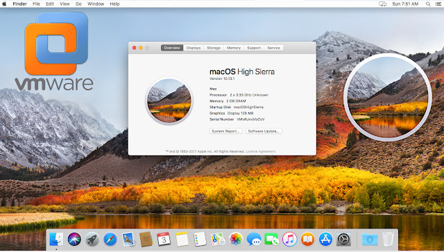 Mac OS High Sierra VMware Image Download