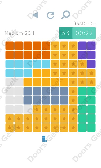 Cheats, Walkthrough for Blocks and Shapes Medium Level 204