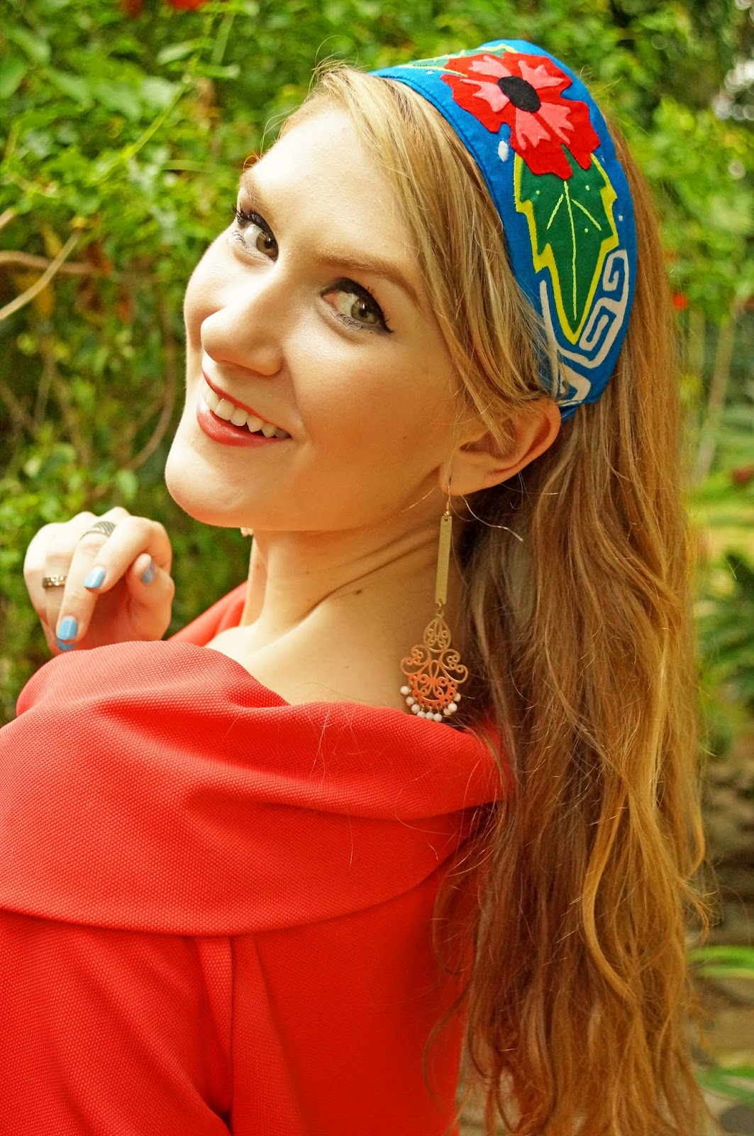 Stunning Mola headband by K'Lasso Collections. Such a pretty piece of Panama Folklor!