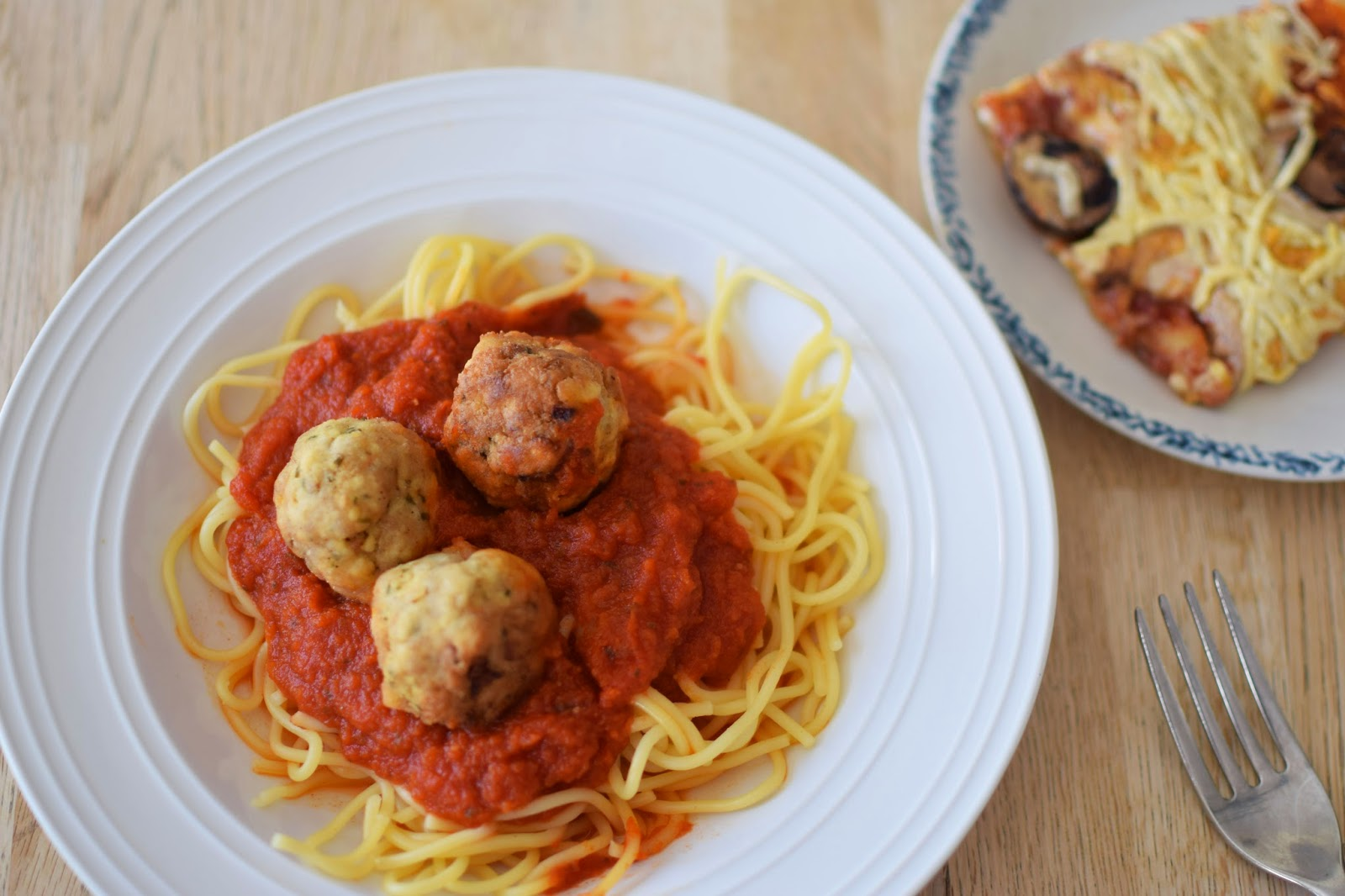 Spaghetti with Tofu Meatballs