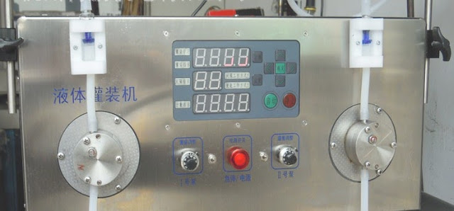semi automatic 2heads liquid filling machine with filling sensor Machine de remplissage de liquide
