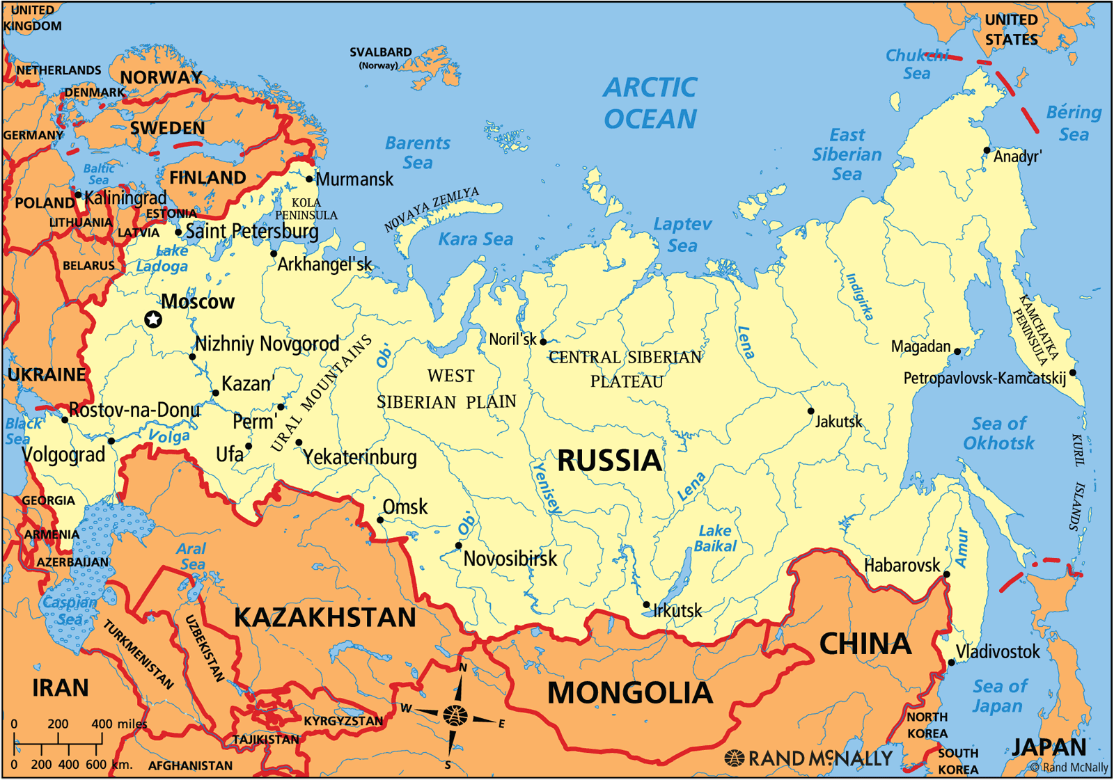 Russia Map Quiz Countries And Capitals