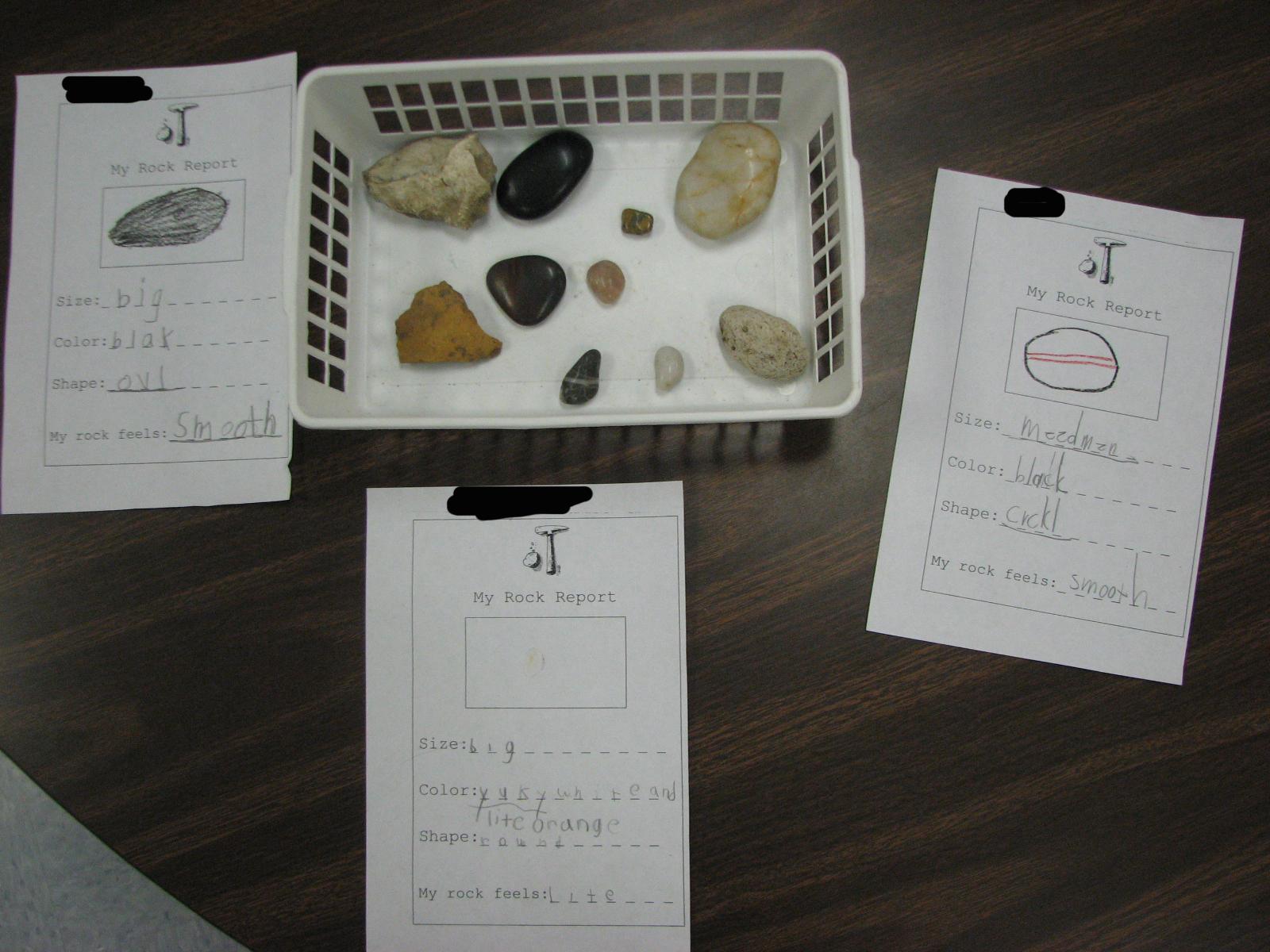 Worksheet Grade 1 Rocks