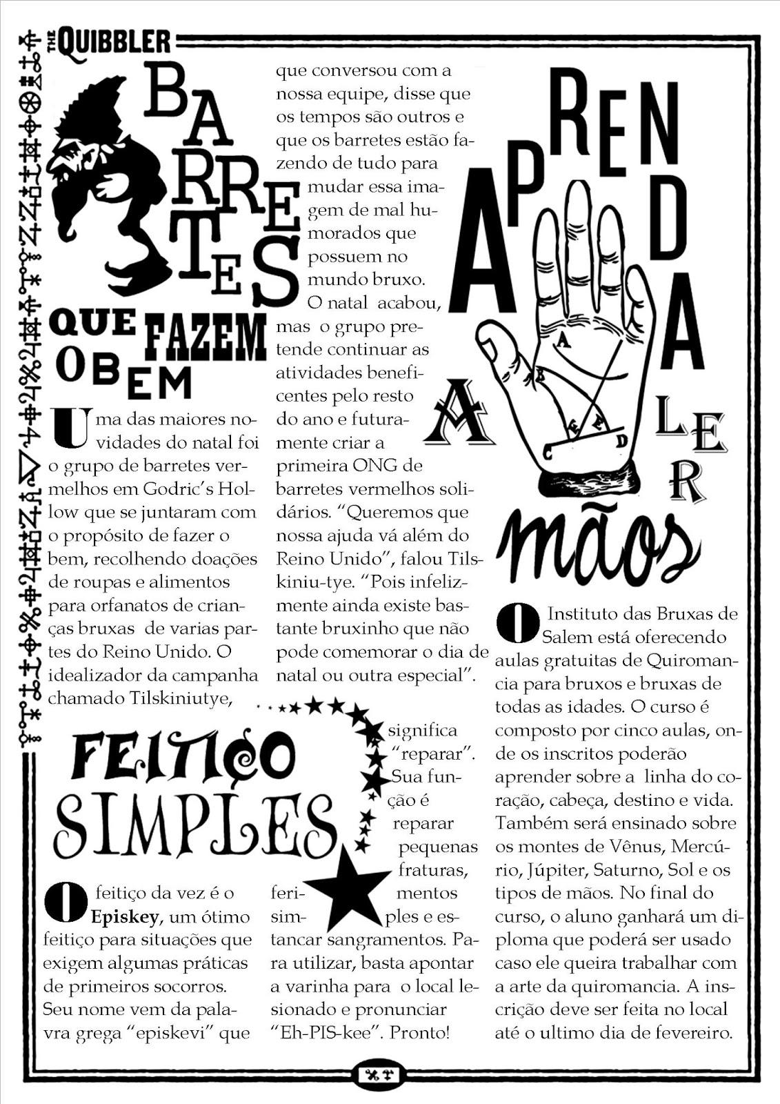 The Quibbler: o informe mais zonzombulesco do Mundo Bruxo ...Quibbler Printable Pages