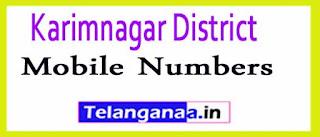 Chandurthi Mandal Sarpanch Upa-Sarpanch Mobile Numbers List Karimnagar District in Telangana State