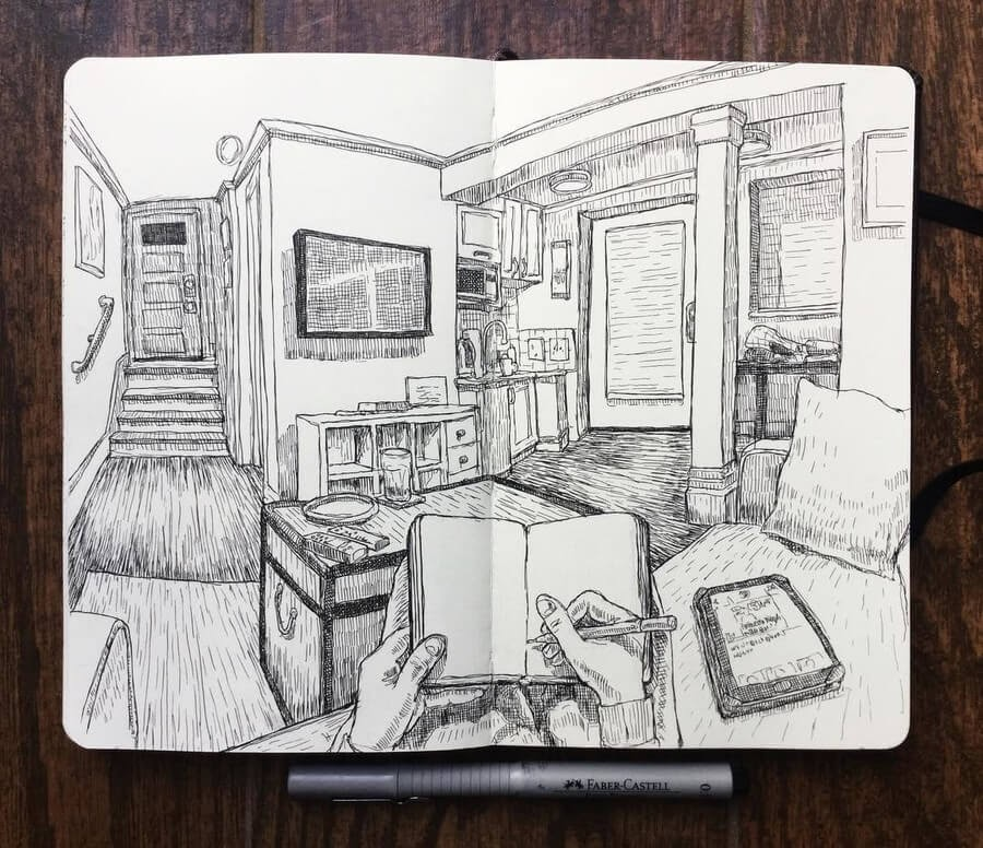 12-Airbnb-Keir-Ross-Urban-Travel-Sketcher-www-designstack-co