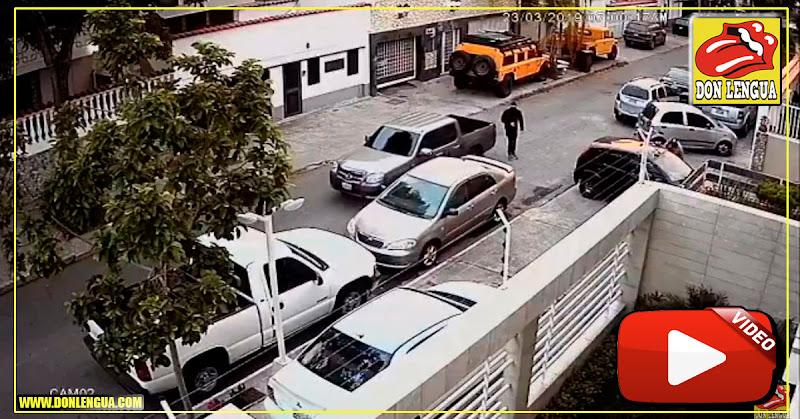 Así se robaron un vehículo en la California Norte de Caracas