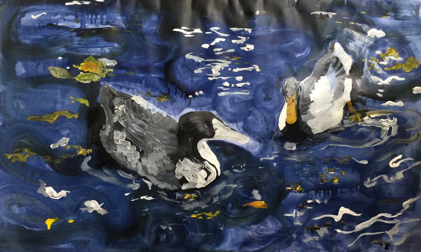 Duck pond painting