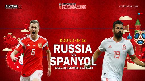 Prediksi Russia vs Spanyol 1 Juli 2018