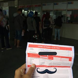 Cara pembatalan tiket kereta api