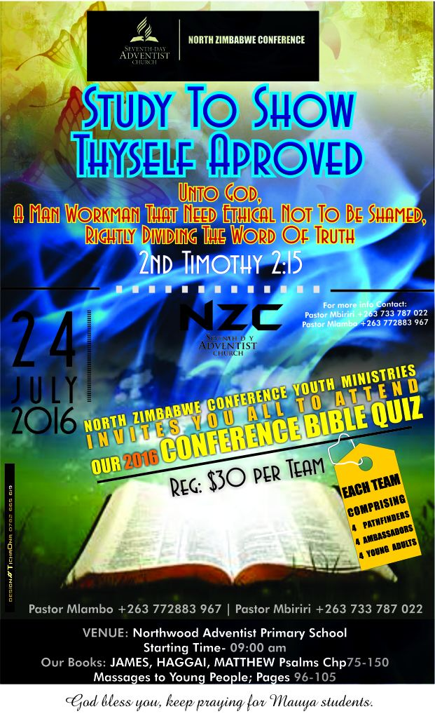 North Zimbabwe Conference: Youth Ministry Upcoming Programmes