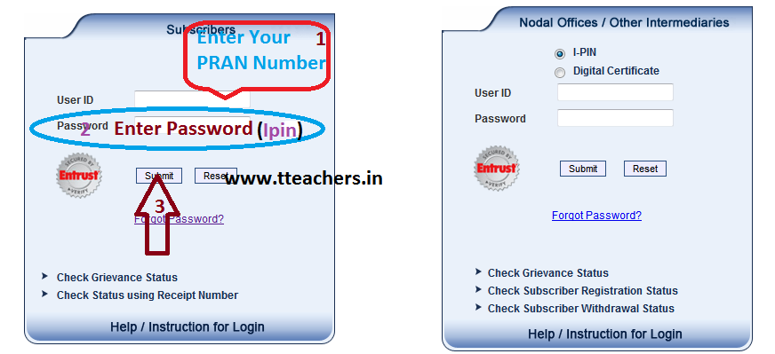 Update or Change Your PRAN(CPS) Account Phone and Mail Id of PRAN Holders