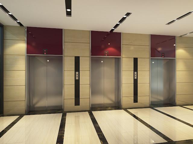 Sảnh chờ thang máy tại Eco Dream