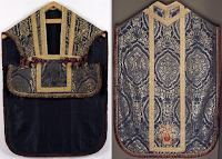 A Seventeenth Century Folded Chasuble and Set