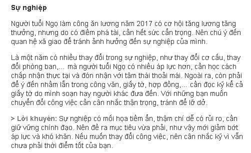 Tu vi tuoi Ngo nam 2017