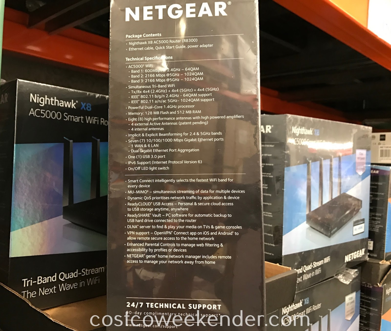 Netgear Nighthawk X8 AC5000 Smart WiFi Router (R8300): great for any home network