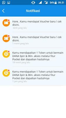 hadiah dari Aplikasi Dana Android
