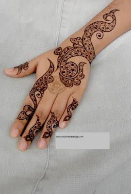 Brown Henna Design For Bride
