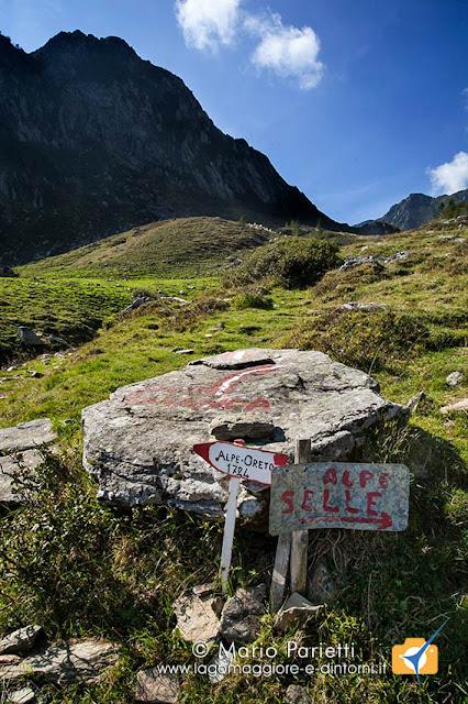 Bivio alpe Oreto - Alpe Selle