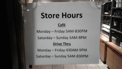 Starbucks #6967 Store Hours
