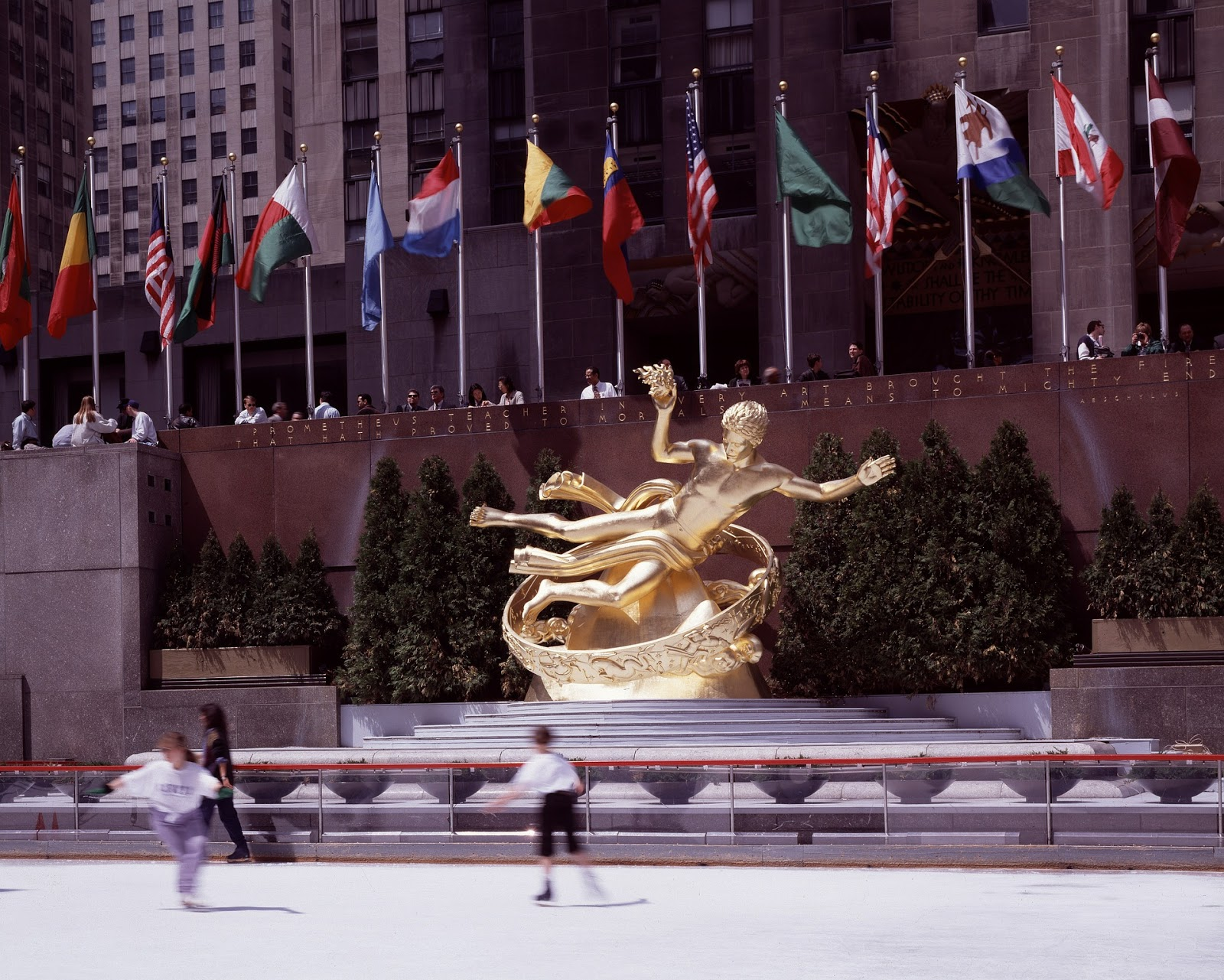 Rockefeller Plaza New York City USA