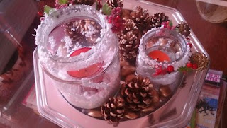 DIY...Porta Velas...Reaproveitando frascos de vidro