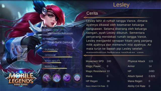 Hero Lesley Mobile Legends