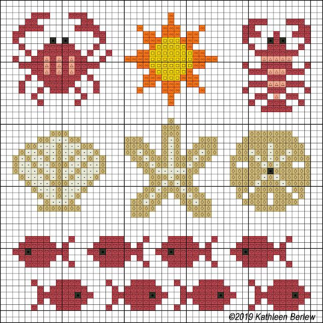 Floss & Fleece: Cross-Stitch Minis: By the Sea chart