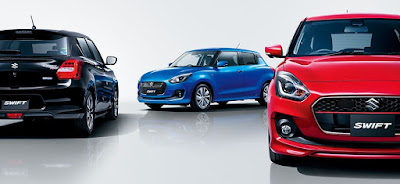 2017 Maruti Swift Three colours