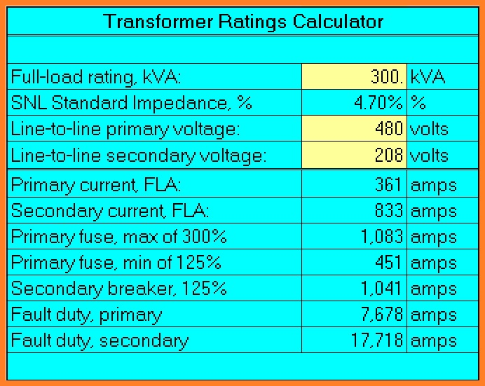 Transformer Fuse Sizing Calculator - Automotive Wiring Diagram •